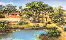 Tranh khung cảnh làng quê