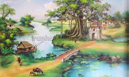 Tranh làng quê Việt Nam đẹp nhất