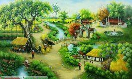 Tranh sơn dầu đề tài làng quê